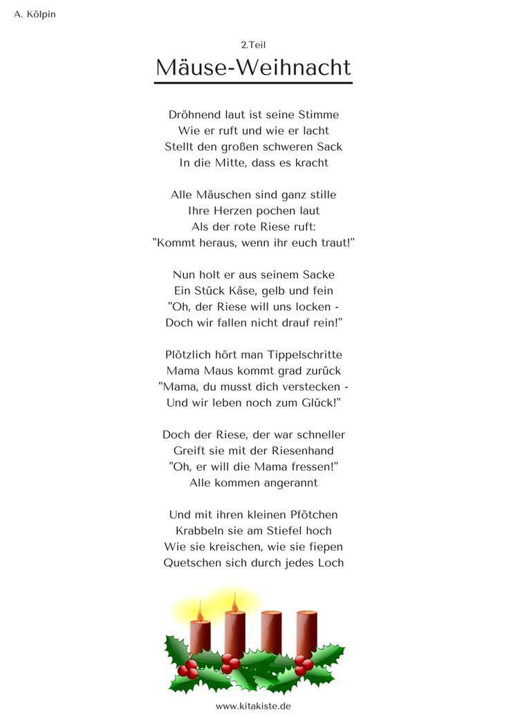 Die Mauseweihnacht Geschichte Gedicht Weihnachten Weihnachtsgeschichte Weihnachten Geschichte