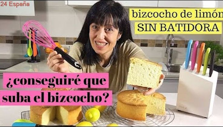 Bizcocho de limon SIN BATIDORA. Alto, esponjoso y MUY FÁCIL