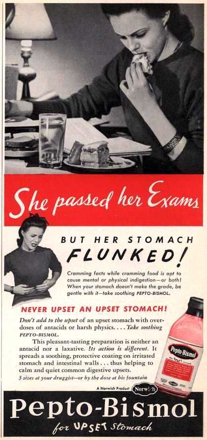 Her Stomach Flunked!