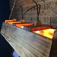 HANDMADE TRIPLE BAR POOL TABLE LIGHT MANCAVE UNUSUAL UNIQUE BURNT WOOD!!!