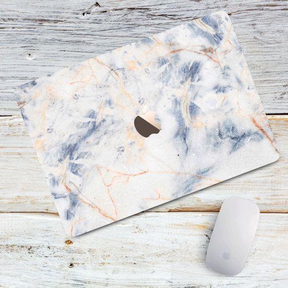 Macbook Hard Case Blue Craked Marble Macbook Air 11 13 case