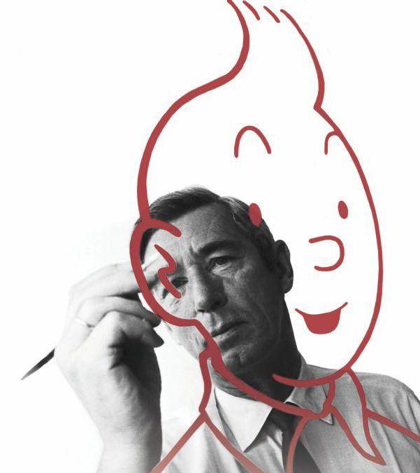 Hergé painting Tintin