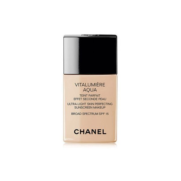 Chanel VITALUMI&RE AQUAFresh And Hydrating Cream Compact Sunscreen... (2,260 DOP) ❤ liked on Polyvore featuring beauty products, makeup, face makeup, foundation, chanel, moisturizing foundation, chanel foundation, hydrating foundation and chanel face makeup