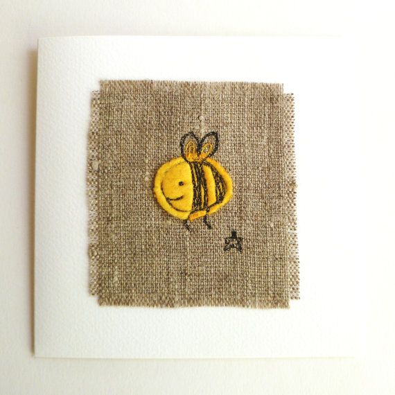 Birthday card or anniversary card for bee by TheSewingTortoise