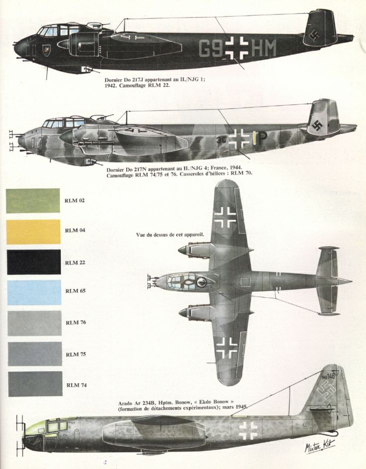 Dornier Do-217J Nachtjäger, Luftwaffe. NIGHT FIGHTER CAMO