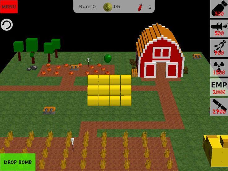 Blocky bomb apocalypse new level. Farm in minecraft style. #first#game #unity #minecraft