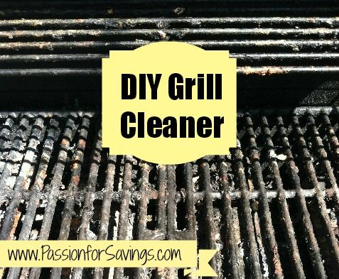 DIY Grill Cleaner:  1) First create a mixture of baking soda and water (should make a paste).  2) Then apply the mixture to the grill and leave it sit overnight. Apply generously to areas needing the most help.  3) You can then use a stiff brush or even balled up tinfoil to scrub off.