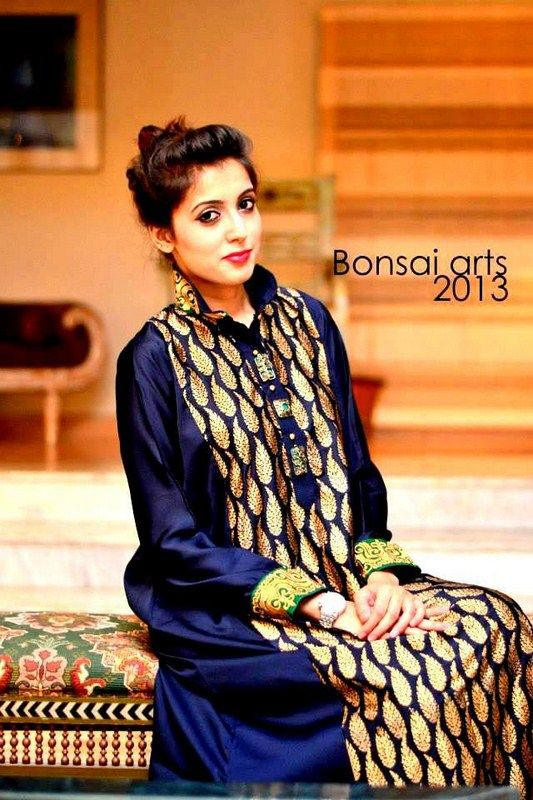 Minahil And Eleaza Casual Wear Collection 2013 For Women   FashionInStep.Com