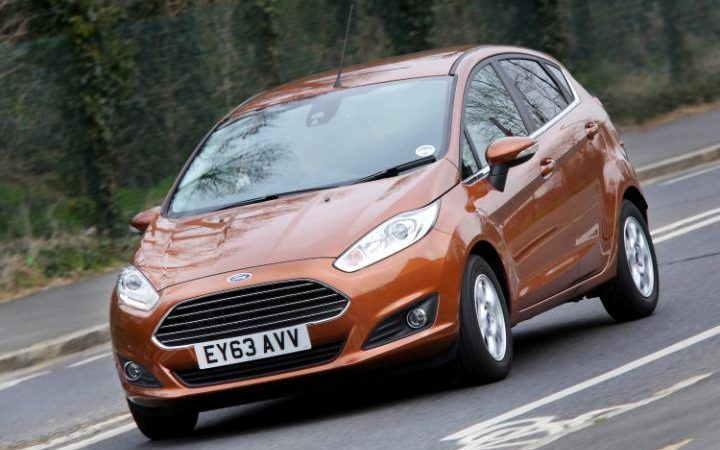 A Ford Fiesta on the road