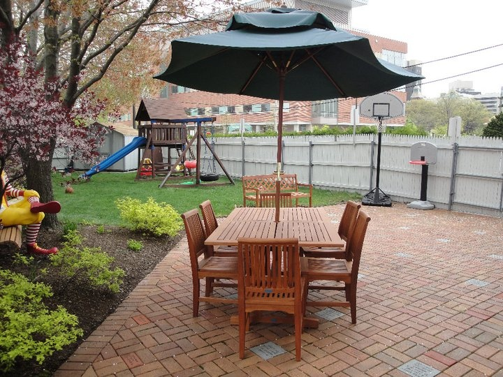Side Yard And Playground At The Ronald McDonald House Of Providence.  Furniture Donated By Cardiu0027s