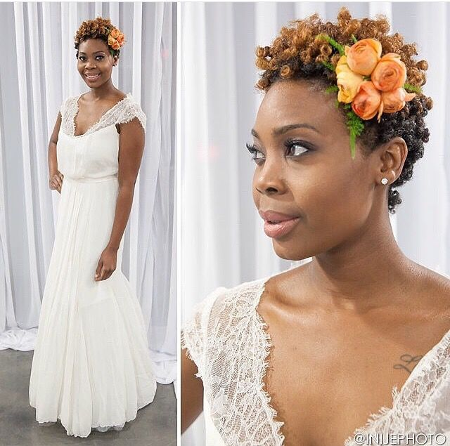 Via @4chairchicks || Bridal look by @loopsalonatl || Natural hair. twa. short…