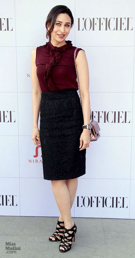 Karishma Kapoor: I love this outfit.  She either has a talented stylist or fabulous taste - she always looks impeccable.