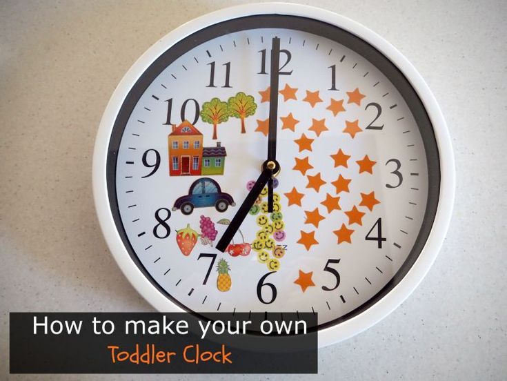 Teaching Kids to Stay in Bed: How to Make Your Own Toddler Clock