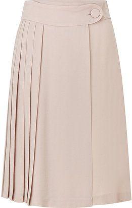 ShopStyle: Tara Jarmon Rose Pleated Skirt