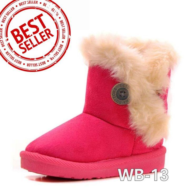 WB-13 HOTPINK Size 22-34 Price : -Size 22-23 @175.000 -Size 27-29 @180.000 -Size 32-34 @190.000 Detail Size (insole) : -22 (13,5cm) -23 (14cm) -27 (16,5cm) -28 (17cm) -29 (18cm) -32 (19,5cm) -34 (20,5cm)  Untuk mendapatkan ukuran insole yg tepat, ukurlah panjang telapak kaki anak lalu ditambah 1,5cm. Bahan luar sepatu semacam beludru dan bulu2 halus seperti boneka. Bagian dalam hangat dari bahan wol.  Beratnya 500gram, 1kg muat 2pasang, beli 2psg lebih hemat ongkir.  SMS/WA 087777111986