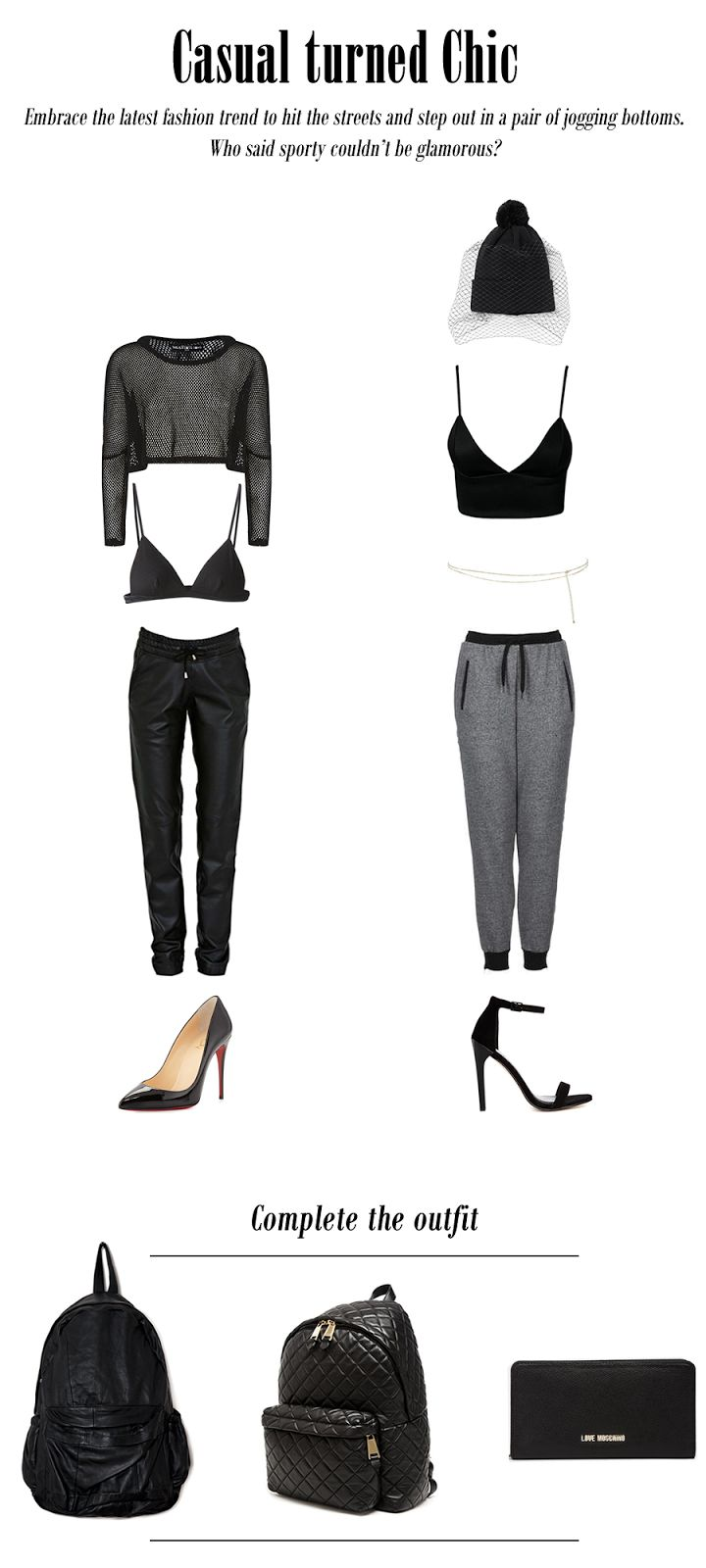 Casual Chic: Jogging bottoms trend