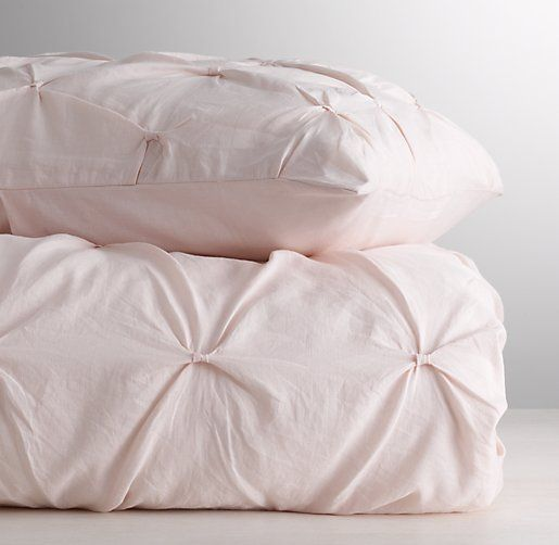 Pintucked bow duvet cover from restoration hardware kids for Duvet covers restoration hardware