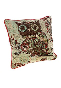 Manual Woodworkers Owl Decorative Pillow