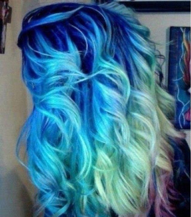 Blue Hair Dye Fading To Green