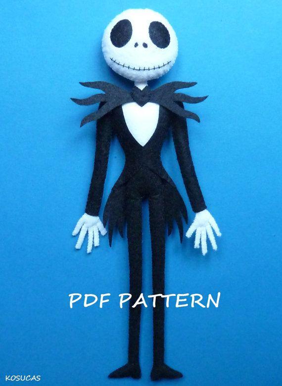 PDF pattern to make a felt Jack. by Kosucas on Etsy
