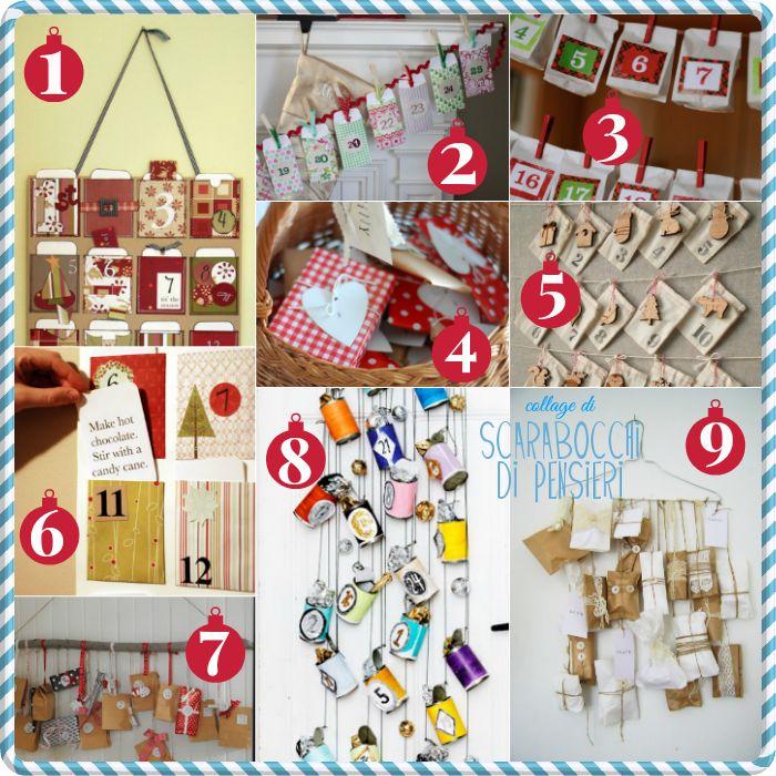 Scarabocchi di pensieri: Idee per un calendario dell'avvento originale e fatto in casa!