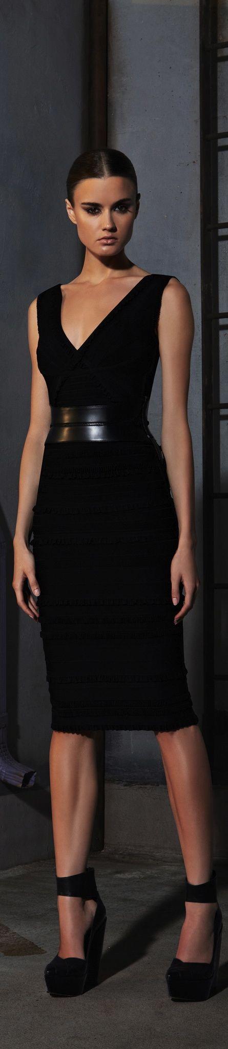 Hervé Léger By Max Azria ● PRE-FALL 2013 black dress