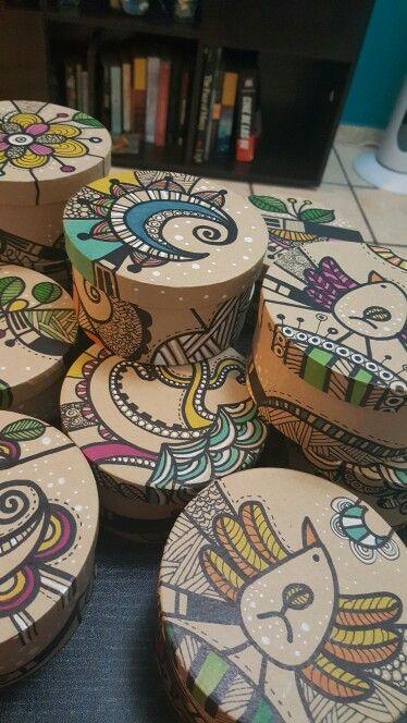 Cajitas pintadas a mano