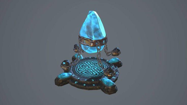 Rune stone, Dzmitry Doryn on ArtStation at http://www.artstation.com/artwork/rune-stone