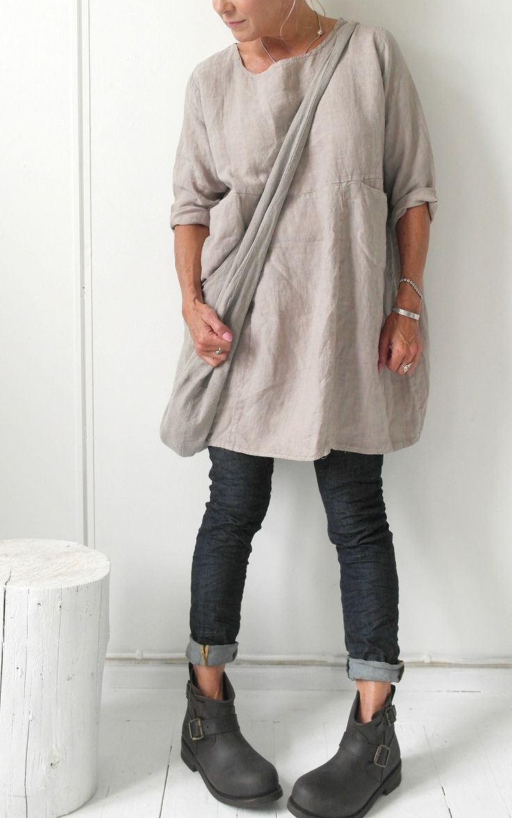 BOHEMIANA Linen Tunic HAPPY / @bypiaslifestyle