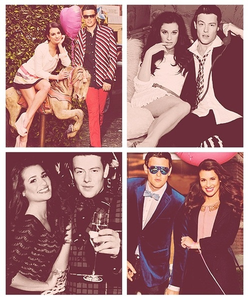 Lea Michele and Cory Monteith!