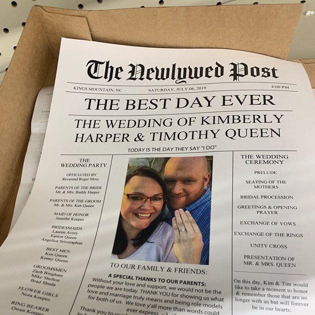 Newspaper Wedding Program Printable Wedding Programs Wedding Program Template Fun Wedding Programs Decor Editable Newspaper In 2021 Newspaper Wedding Programs Wedding Newspaper Printable Wedding Programs