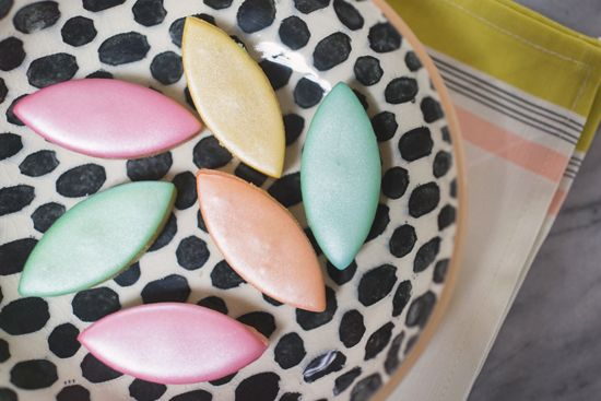 marzipan candy from paris. make these into sugar cookies?