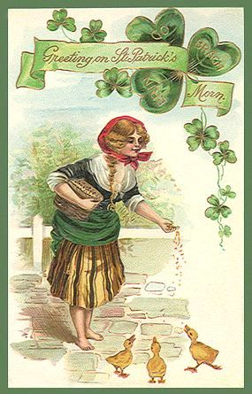 St Patrick's Day vintage post card