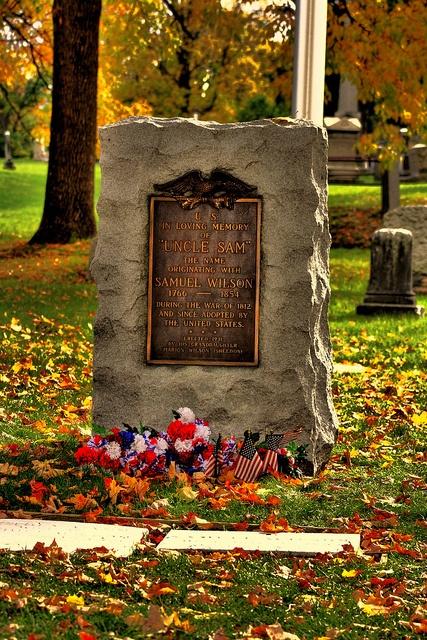 Troy N.Y. - Oakwood Cemetery - Samuel - Uncle Sam - Wilson Grave