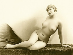mapetitemelancolie:    Unknown- Young Flapper nude on a carpet, 1920s