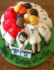 Rugby themed cake - For all your cake decorating supplies, please visit craftcompany.co.uk