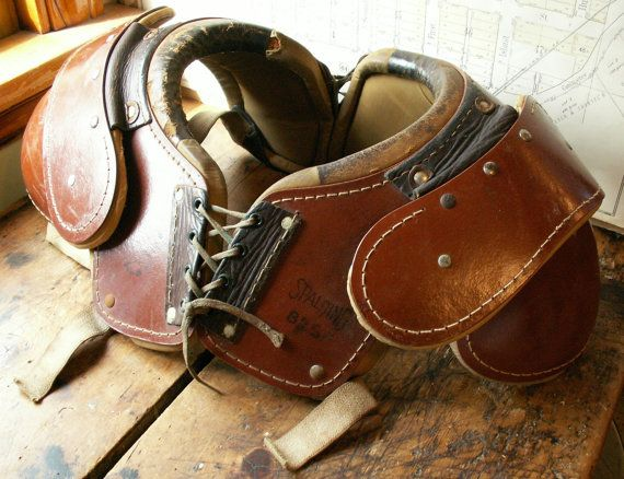 Leather American Football Shoulder Pads