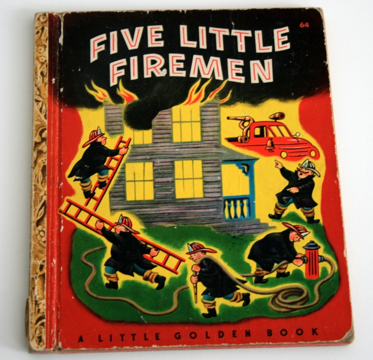 Five Little Firemen, A Little Golden Book 1949