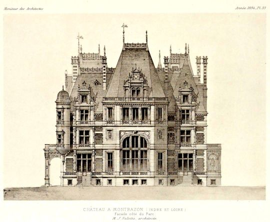 Elevation of a Chateau near Montbazon, France ARCHI/MAPS