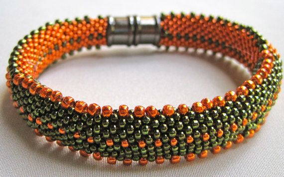 Bead Crochet Bangle Pattern:  Lots of Dots Bead Crochet Pattern via Etsy