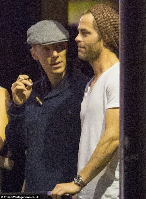 The League of British Artists: Benedict Cumberbatch and Chris Pine are BFFs as they party at Justin Timberlake concert in London