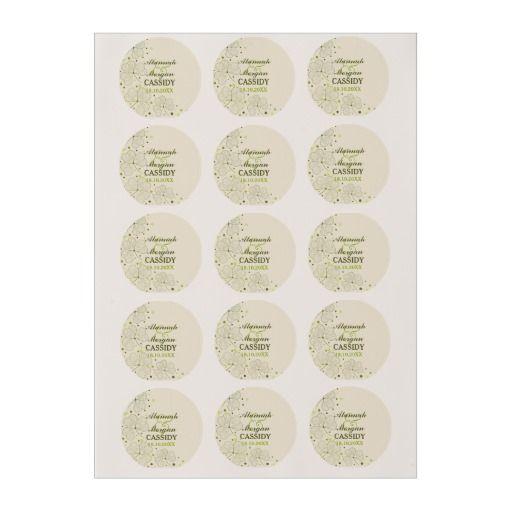 Shamrocks Polka Dots Wedding Edible Frosting Rounds. Customize text.