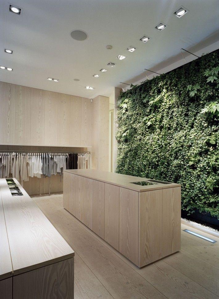 Ease store _ Filippa K Wingårdhs Arkitekter  #plantwall