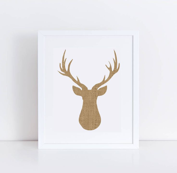 Rustic Burlap Decor / Neutral Deer Silhouette Printable / Deer Head Wall Art / Burlap Nursery Decor / Printable Deer Art / Forest Nursery by PrintableRemedy on Etsy https://www.etsy.com/listing/572243236/rustic-burlap-decor-neutral-deer