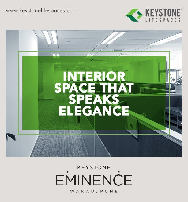 Keystone Eminence - Interior Space That Speaks Elegance www.keystonelifespaces.com #wakad #commercial #Office #Industry