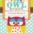 Great Owl themed resource!! This packet is used in a binder to communicate all the happenings of school day to day with your students' parents. EDI...