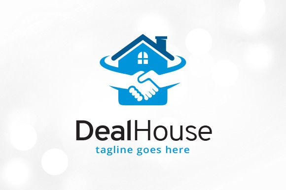 Deal House Logo Template by gunaonedesign on @creativemarket