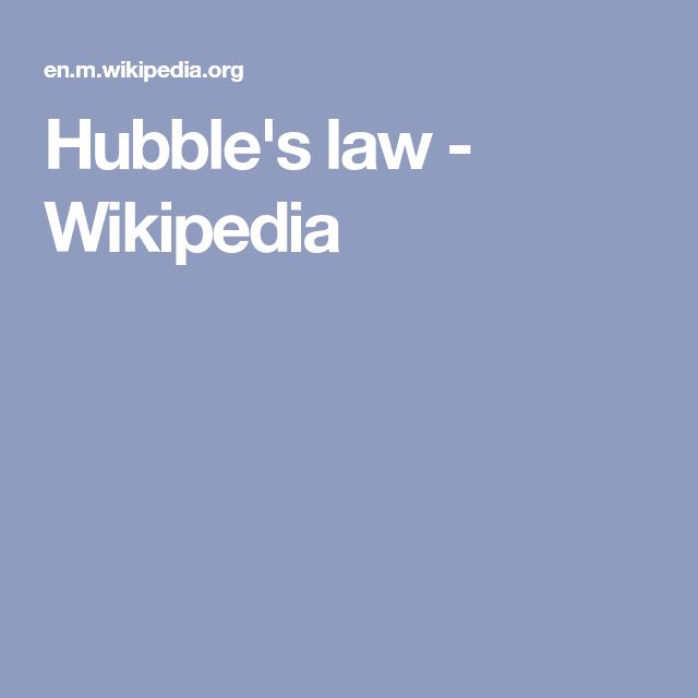 Hubble's law - Wikipedia