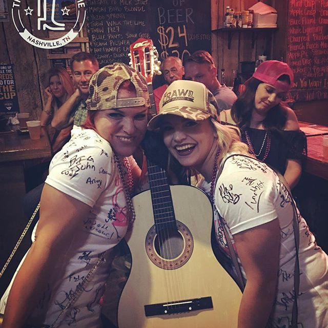 Nashville Memories :)  ❤️  The Crawl Of Fame. Nashville's #1 Bar Crawl Experience. Compete for games and prizes and WIN A GUITAR every tour!  Call us and book your tour today. Ask about group discounts and full packages.  #crawloffame #nashville #barcrawl #countrymusic #fun #games #tours #bachelorette #bachelor  #party #corporateevents #vacations #drinking #adventures #somuchfun #omg #lol #we #are #awesome #hashtag #crawloffame #tuesday #nightlife #arizona #cashville #friends #guitar ...
