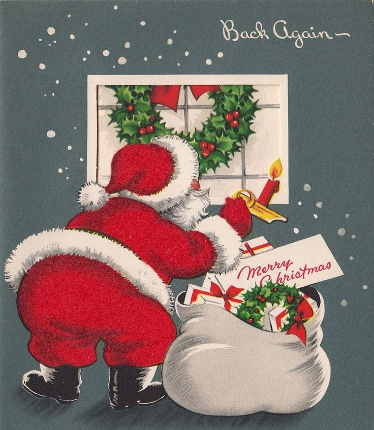 1000 images about christmas santa claus on pinterest for Santa cards pinterest